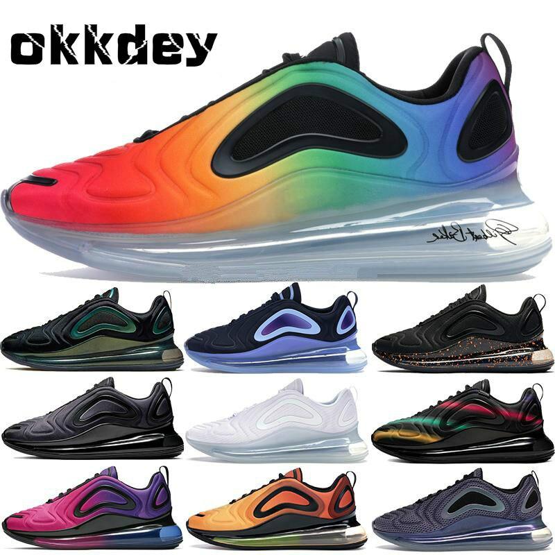 2019 nouveau 720 chaussures de course aurores boréales retour avenir néon Collection Sunrise 72C femmes hommes baskets baskets formateurs