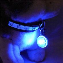 Lanterna LED Luzes Guia Coleira Pet Noite Segurança Incandescência Luminosa Brilhante Brilhante Colar Pingente Colar do animal de Estimação SEM Bateria