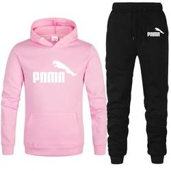 2020 New Brand Tracksuit Women Hoode + Pants 2 Piece Sets Women's Clothing Thick Fleece Hooded + Sport Pants Am Plus Size S-3XL