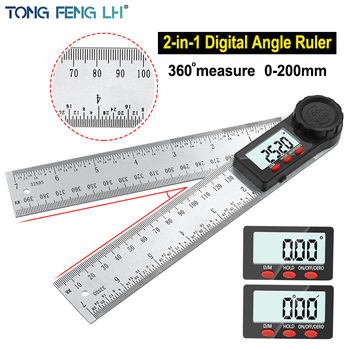 Digital protractor Angle ruler 200mm 8inch angle Finder Meter Stainless Steel 360 degree goniometer inclinometer - discount item  15% OFF Measurement & Analysis Instruments