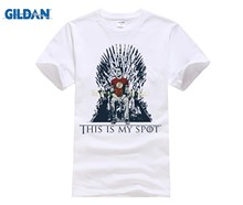 Summer Fashion Men T-shirt Games Of Thrones Funny Tshirt This Is My Spot Creative Design Clothing Casual Male Tee Shirt(China)