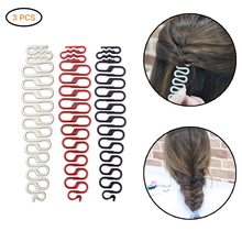 New 3Pcs High-quality Hair Braiding Tools S and Fishbone DIY Hair Styling Tool Prevent Hair Knotting Ponytail Maker Accessories cheap FGHGF 19 5*2 5c m plastic resin Other New 3 Pcs High-quality Hair Braiding Tools