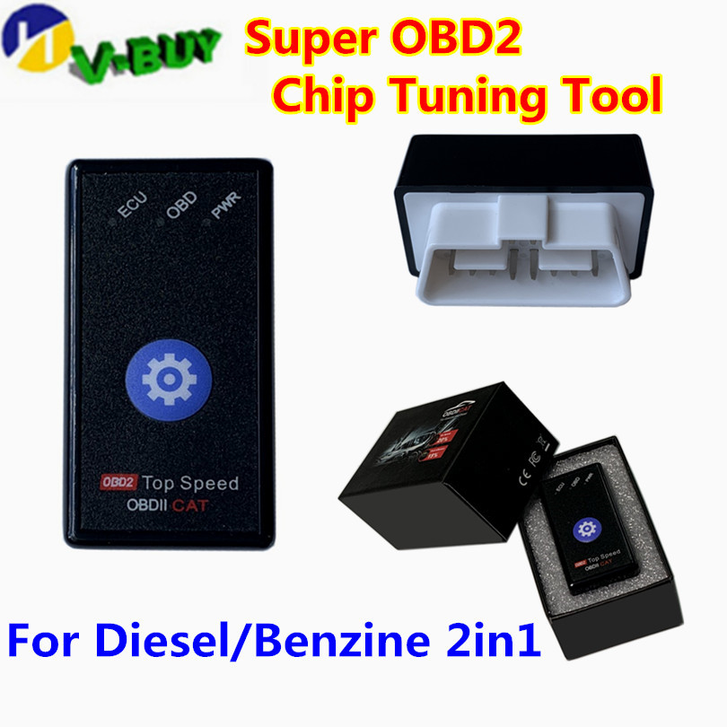 New Super OBD2 Nitro OBD2 EcoOBD2 ECU Chip Tuning Box Plug OBD NitroOBD2 Eco OBD2 For Cars 15% Fuel Save More Power Dropshipping
