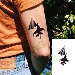 Temporary Tattoos Sticker Paper airplane fighter Japanese cartoon girl gun Body Art Waterproof tatto Flash Fake Tatoo woman man