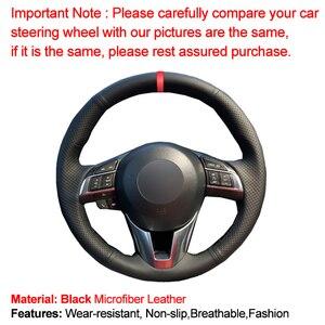 Image 2 - HuiER Hand Sew Car Steering Wheel Cover Breathable Red Marker For Mazda CX 5 CX5 Atenza 2014 New Mazda 3 CX 3 2016 Scion iA 2016