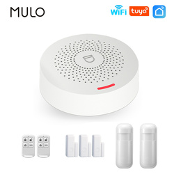 MULO Wifi Alarm System Smart Home Burglar Security Wireless Home Alarm Adjustable Volume Tuya APP Remote Control