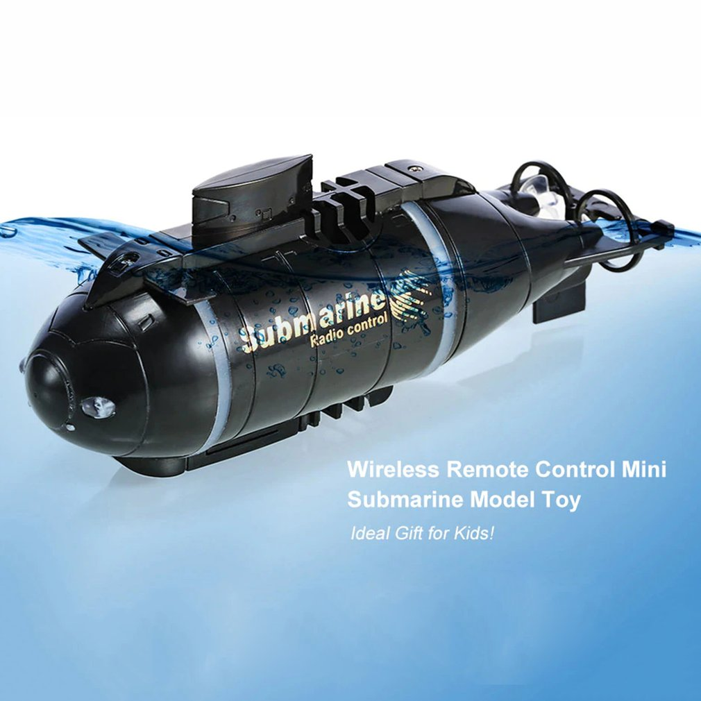RC Submarine Pigboat Toy Remote Control Boat Toy Gift With LED Light RC Toy Gift Colors Waterproof Toy