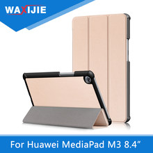 "PU Leather Tablet Case for Huawei MediaPad M3 8.4"" BTV-W09/BTV-DL09 Trifold Stand Smart Magnetic Folding Cover Auto Wake/Sleep(China)"
