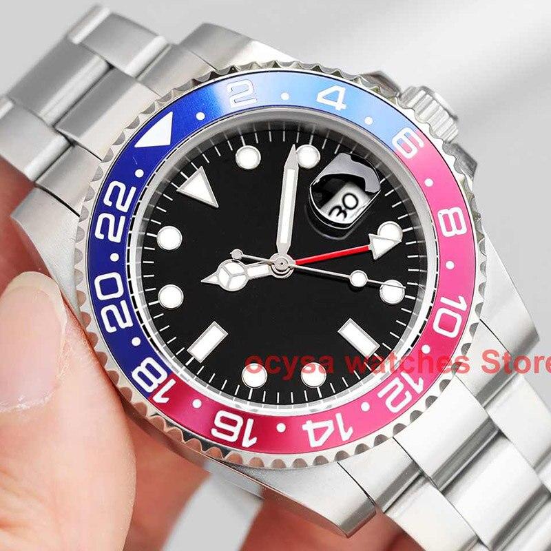 Ocysa No Logo Brand Luxury Mechanical Automatic Men Watch Relogio Masculino Reloj Ceramic Bezel Sport Mens Watches Wristwatch