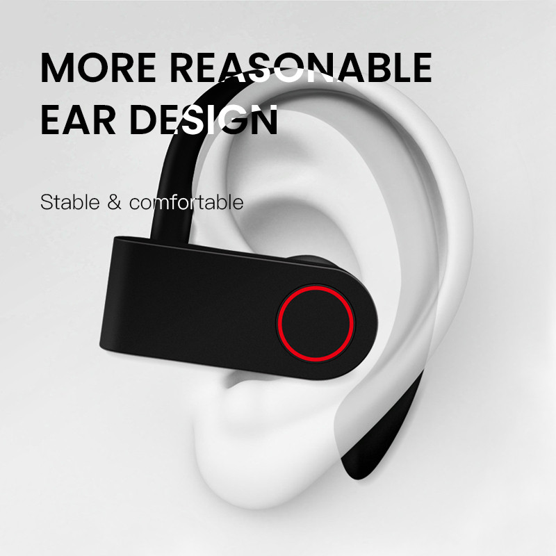 Wireless Bluetooth 5 0 Earphone Hifi Stereo Ear Hook Headset With Mic Cvc 8 0 Noise Cancelling Headphones Earbuds For Smartphone Aliexpress Com Imall Com