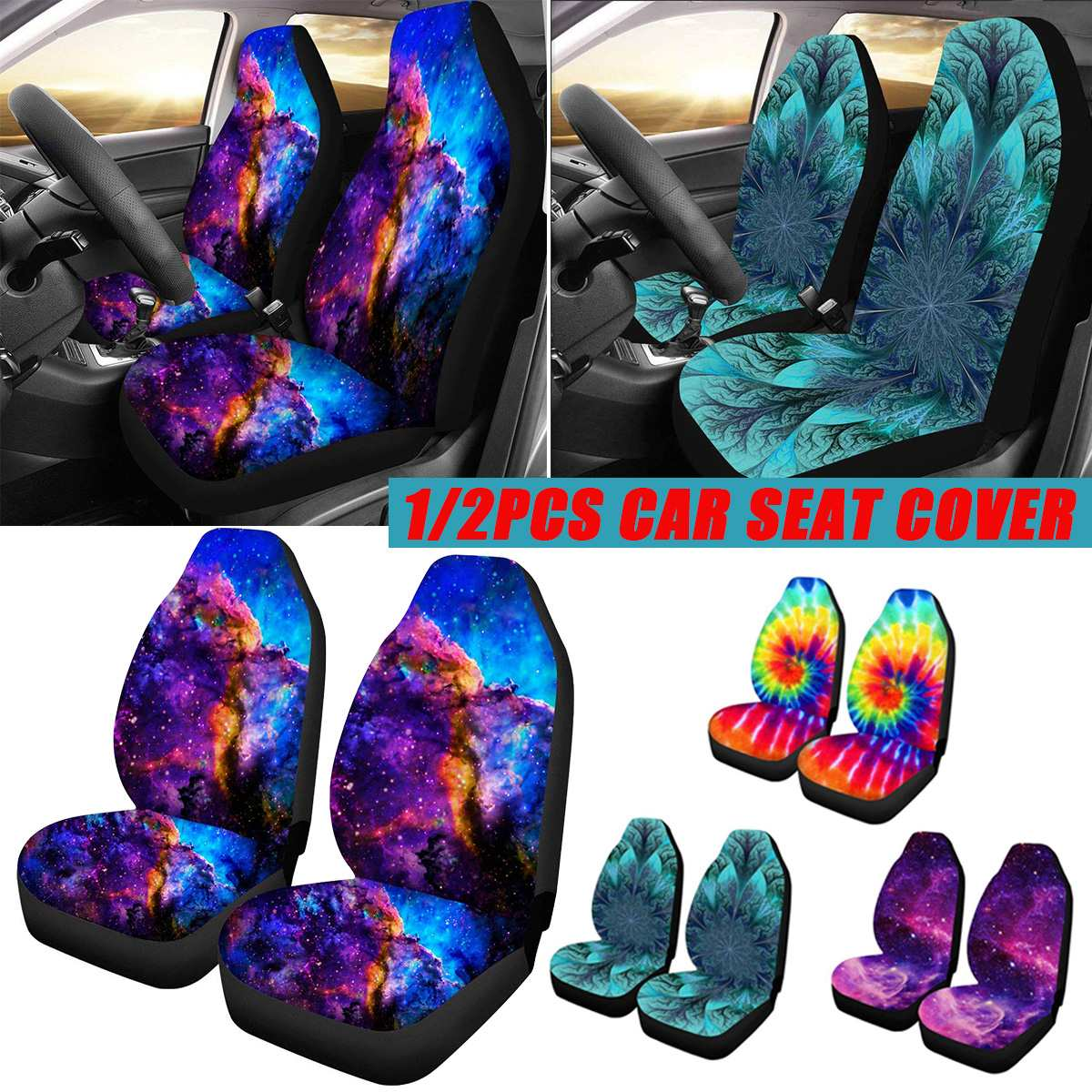 Mat Protector Van Car-Seat-Cover Truck Soft-Fabric Universal Most Auto 2pcs Front  title=