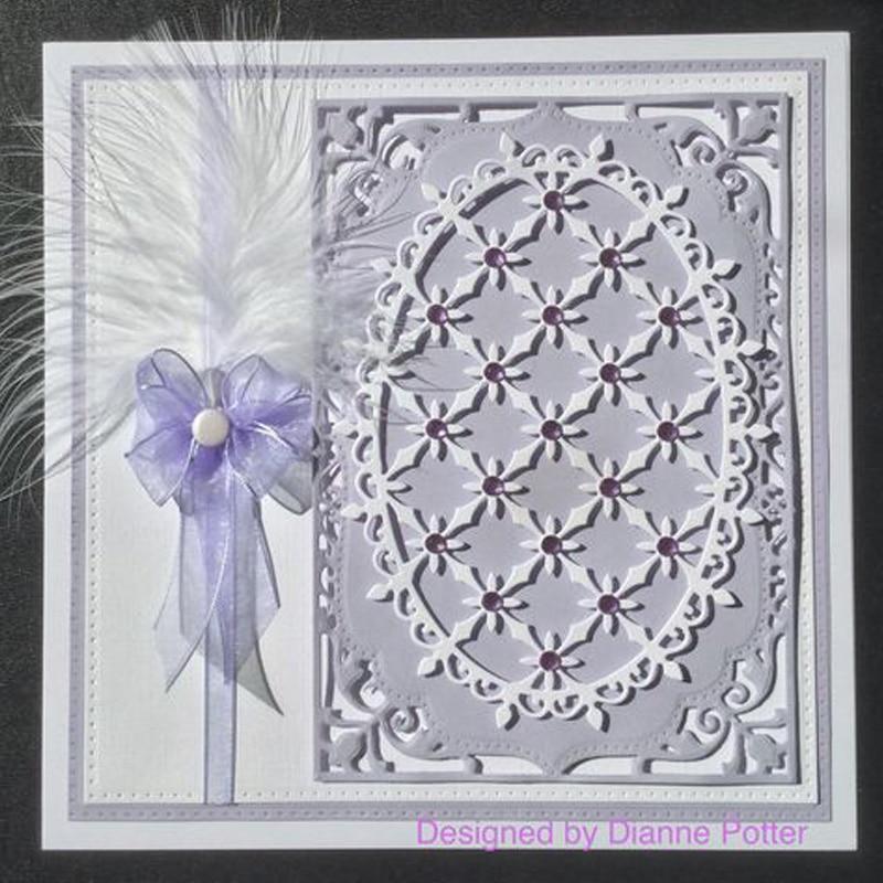 Dies Scrapbooking Lace Lattice Oval Frame METAL CUTTING DIES New 2020 Card Making Embossing Stencil Die Cut Paper Craft Supplie
