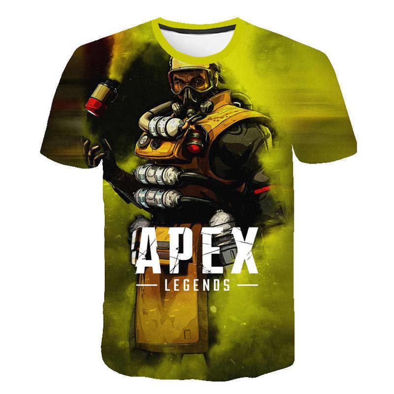 新しいホット Apex 伝説 Tシャツ子供夏半袖 Tシャツ少年/女の子 Tシャツ Apex 伝説通気性 3D ゲームフルデザイントップ