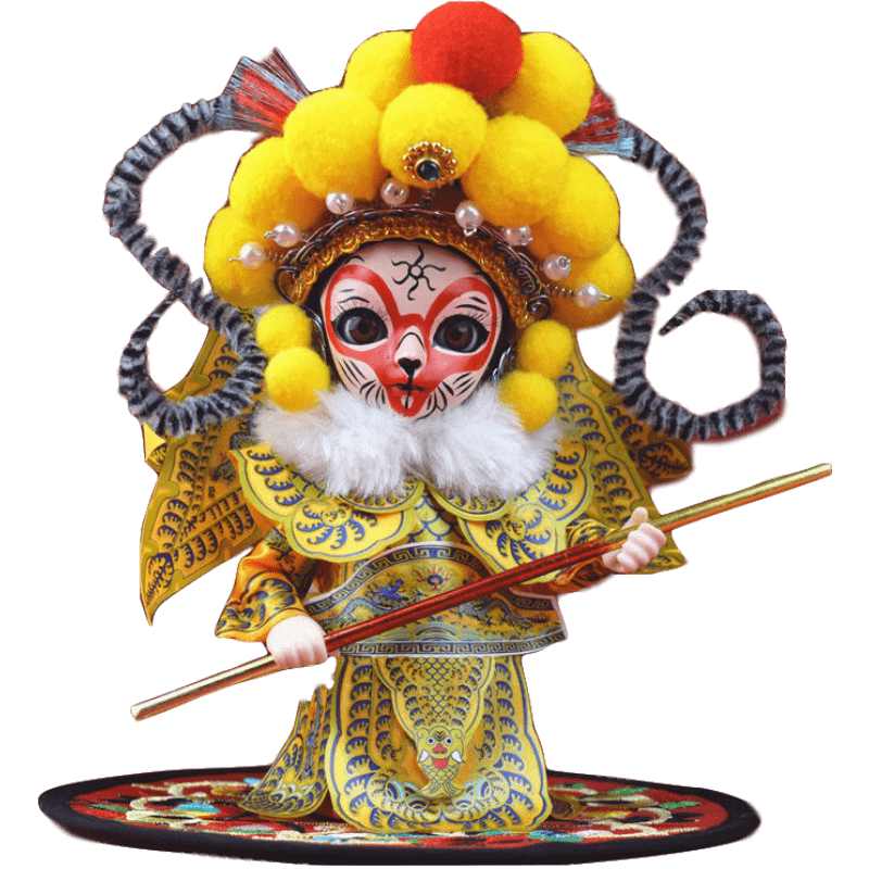 Peking Opera Doll Puppet Decoration Edition Cartoon Deaf Foreign Affairs Overseas Gifts Companion Souvenirs Statues image