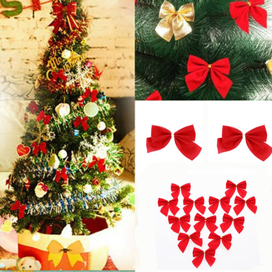 Household Decoration Chic Bow Bowknot Ornament New Garden Hot Party Christmas Trees Accessories Decorations Holiday Home Decors