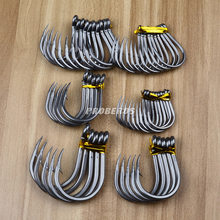 Pro beros Fishing Stainless Steel Hook Barbed with Ring Hook Seawater-Resistant Boat Hook tie ban gou Wholesale(China)
