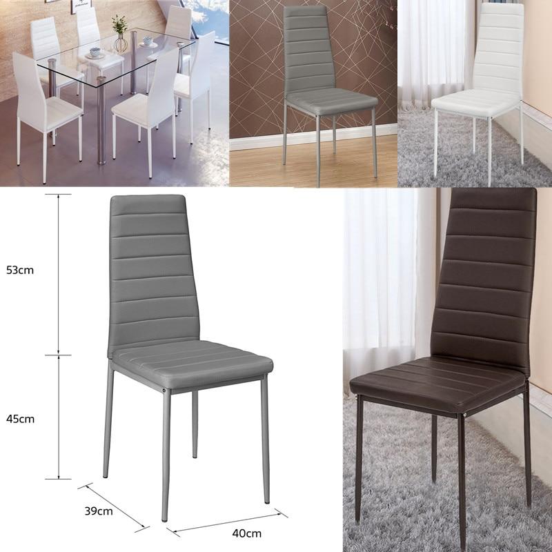 2 pièces moderne maison salle à manger chaises Loft salon tabouret haut dossier en cuir métal jambe rembourrée siège chaise salle à manger meubles HWC