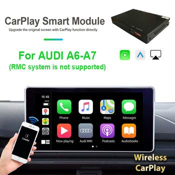Czarny bezprzewodowy Carplay jednostka główna Andriod odtwarzacz samochodowy dla AUDI A6 A7 Wifi Bluetooth Siri Voice Airplay System RMC nie jest obsługiwany tanie i dobre opinie NAVIRIDER CN (pochodzenie) Black 12 v A7 A6 2010-2016 2012-2016 For AUDI
