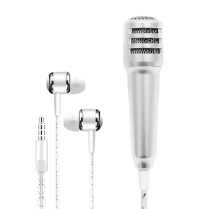 Professional Mini K Song Recording Mic Microphone with Earphones for Phone Computer GDeals