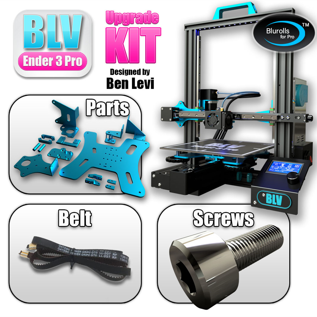 Blurolls BLV Ender 3 Pro 3d printer upgrade kit including Gates X Ybelt screws ender3 aluminum plates genuine Hiwin Linear Rail