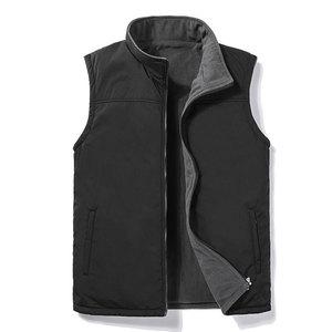 Image 2 - Casual Autumn Winter Fleece Mens Vest Black Sleeveless Mens Vest  5XL Warm Thick Mens Vest Jacket Chaleco Gilet
