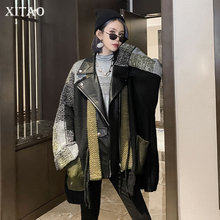 XITAO Fashion New Jacket 2020 Autumn Elegant Full Sleeve Pocket Small Fresh Casual Style Minority Plus Size Loose Coat DZL2061