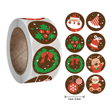 Stickers Merry-Christmas Box-Labels-Decorations Candy-Bag New-Year Elk