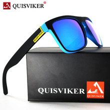 QUISVIKER-gafas de sol cuadradas polarizadas para hombre y mujer, lentes de sol masculinas de diseño de marca
