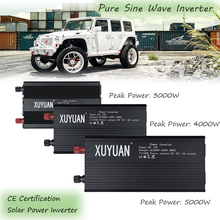 Solar Power Inverter Pure Sine Wave Inverter 3000/4000/5000W 12/24V to 110/220V Car Power Inverter Charger Voltage Converter цена и фото