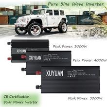 цена на Solar Power Inverter Pure Sine Wave Inverter 3000/4000/5000W 12/24V to 110/220V Car Power Inverter Charger Voltage Converter
