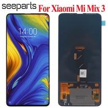 """Amoled xiaomi mi ミックス 3 lcd ディスプレイタッチスクリーンデジタイザのためのフレームと 6.4 """"xiaomi mi MIX3 液晶交換部品"""
