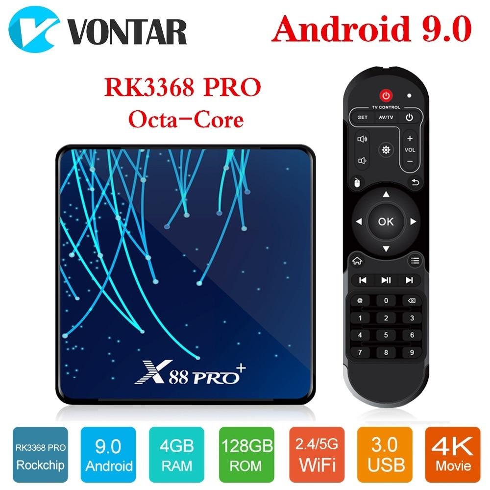 Android 9.0 TV Box X88 PRO Plus 4GB 128GB Rockchip RK3368PRO 1080p 4K 60fps Google Voice Assistant Netflix Youtube set top box(China)