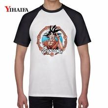 Summer 3D Print T Shirts Dragon Ball Z Goku Graphic Tees Stylish Men Women White Cotton T-Shirt Unisex Plus Size Casual Tops цена
