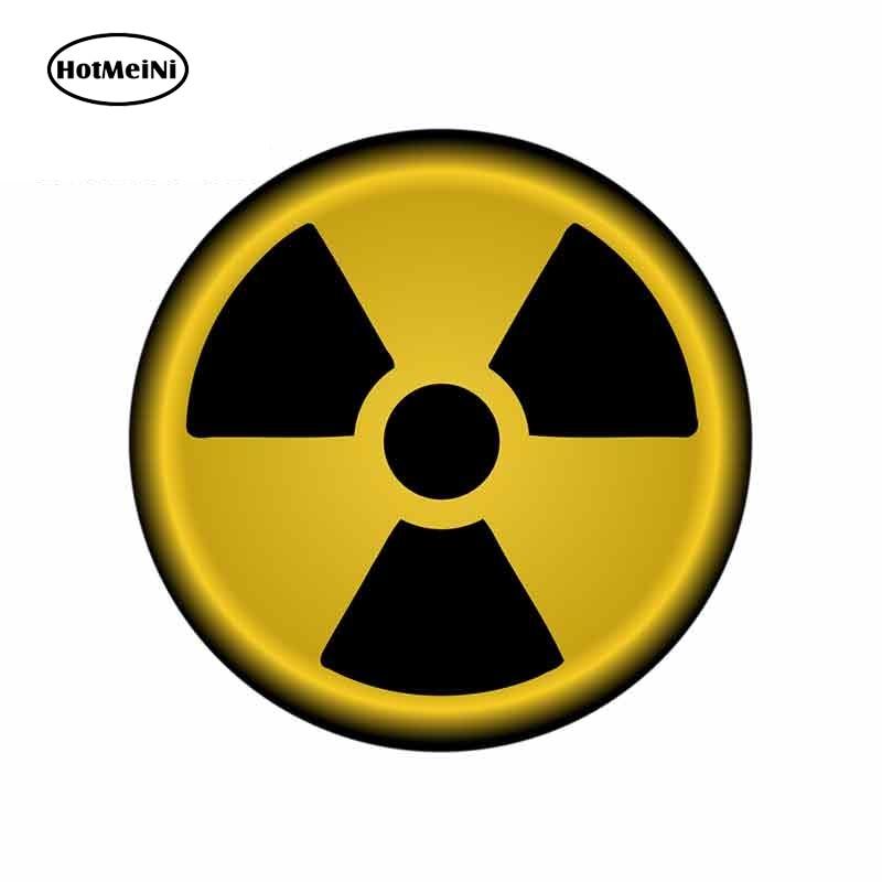 HotMeiNi 13cm X 13cm WARNING Labels Decal Vinyl Car Bumper Radiation Warning Sign Car Stickers Graphics