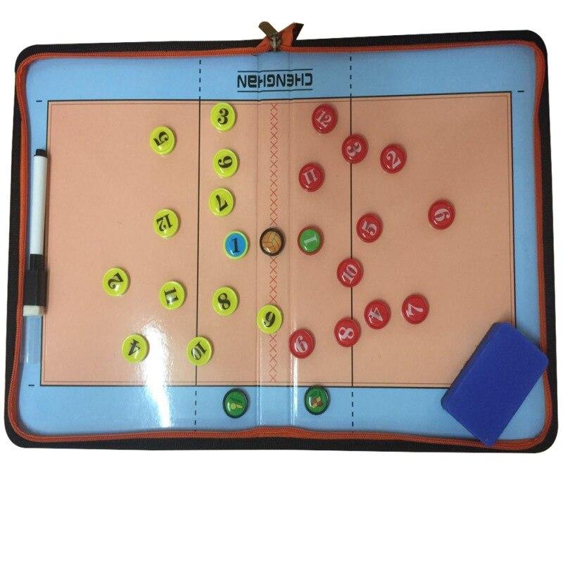 Застежка-молния волейбольная тренерская доска инструктор командная доска dui zhe shi Tactical This Wipable Write with Magnetic