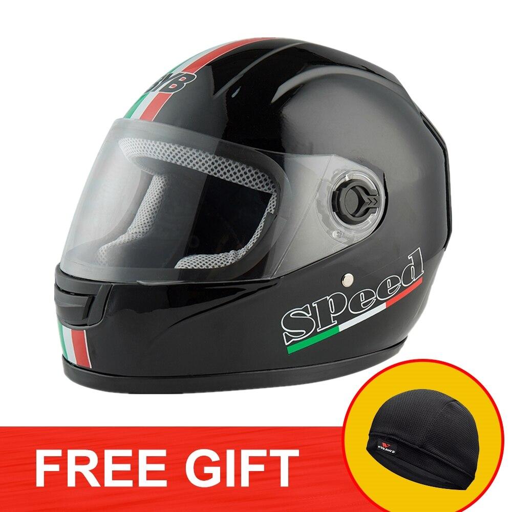 BYB Motorcycle Full Face Helmet Motocross Racing helmet Anti  Fog Lens Motorbike with Helmet Warming Scarf Motor Racing Touring-in Helmets from Automobiles & Motorcycles