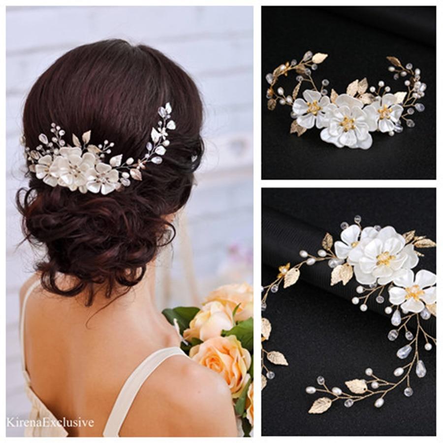 Свадебные украшения для волос Le Liin в стиле бохо с цветами, вьющимися волосами, свадебные украшения для волос с кристаллами в деревенском сти...
