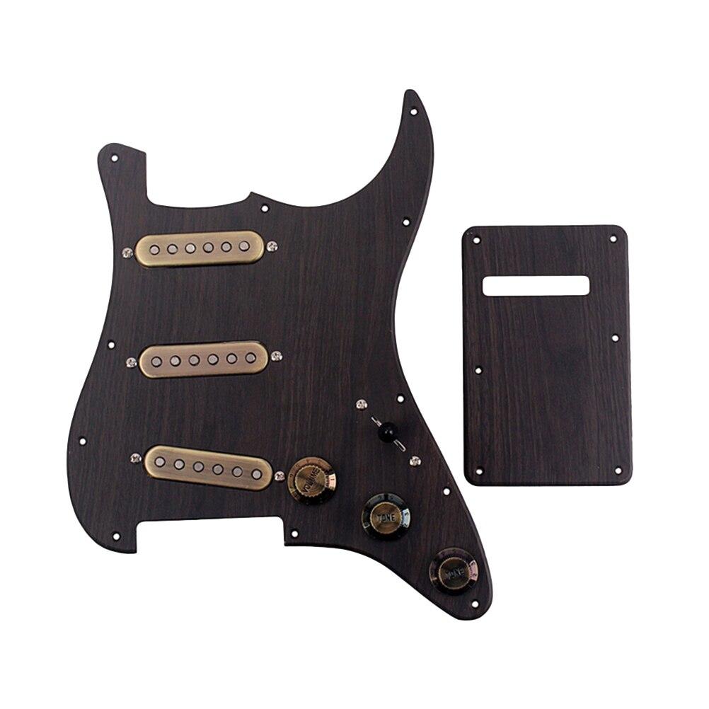 1 ensemble accessoires de guitare précâblé SSS chargés boutons de commande micros ensemble Pickguard plaque arrière pour basse Instrument de musique guitare