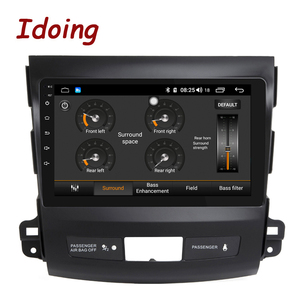 """Image 3 - Idoing 9""""4G+64G 2.5D IPS 8 Core Car auto Android Radio Multimedia Player For Mitsubishi Outlander 2006 2012 DSP GPS Navigation"""