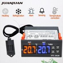 STC 3028 منظم الحرارة متحكم في درجة الحرارة ترموستات الرطوبة التحكم ميزان الحرارة الرطوبة تحكم 12 فولت/24 فولت/220 فولت 30% من