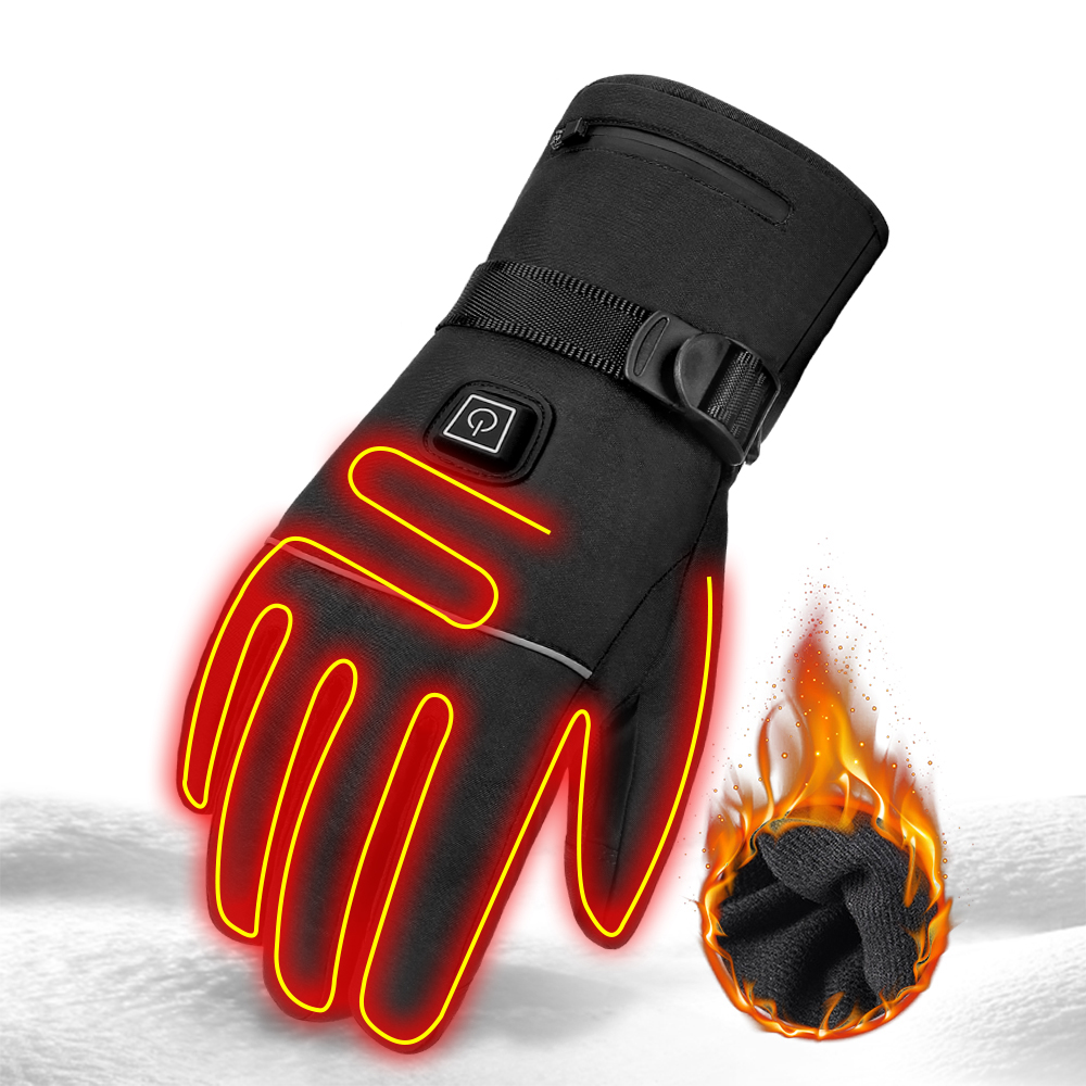 Image 2 - Winter Motorcycle Gloves Heating Guantes  Waterproof Moto Gloves 