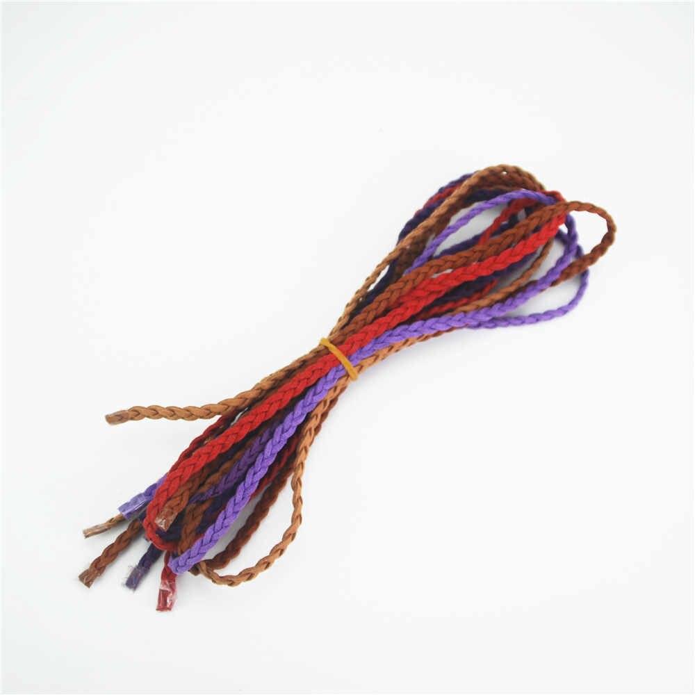 Chất Lượng Cao 5 Mét/lô Giả Da Lộn Da Bện Chiếu Trúc Hạt Dây Dây Ren DIY Phụ Kiện 16 Màu Sắc Để Lựa Chọn DS234
