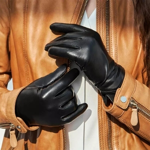 Image 3 - New Youpin Qimian Lambskin Touch Screen Finger Gloves Waterproof Spanish Raw Soft Leather Warm Winter For Women Man Drive