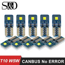 10 шт. W5W T10 светодиод Шина CAN свет лампы 12V для Audi, BMW, VW автомобиль mercedes для стильного интерьера потолочный плафон багажная лампа Автомобильные стояночные огни