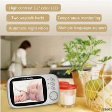 VB603 3.2inch Wireless Video Monitor Baby Sleep Nanny LCD Security Carer Camera Night Vision 720P HD