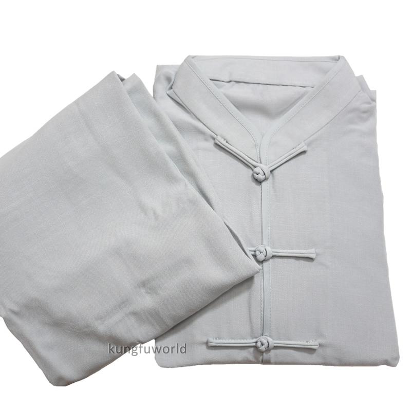 灰色棉麻太极服 副本