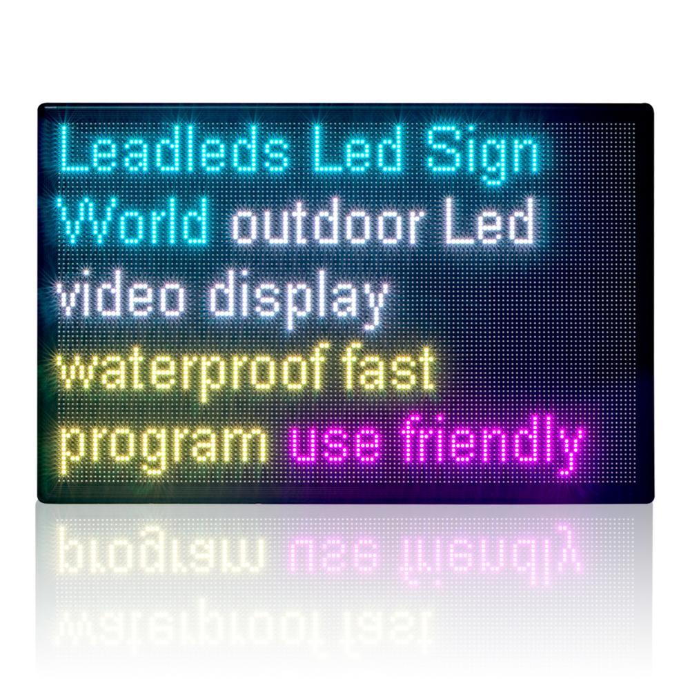 43x28 pouces P8MM extérieur panneau d'affichage LED étanche polychrome panneau LED rgb défilement message à travers la programmation LAN