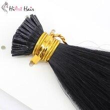 HiArt 1г I кончик наращивание волос в настоящий Remy человеческих волос предварительно скрепленные выдвижения волос кератина России прямой 18