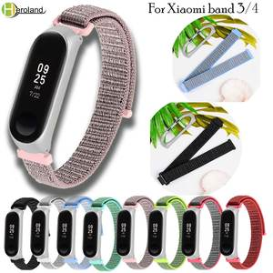 Nylon-Strap Smart-Watch-Band Miband HERO 4-Bracelet Metal-Case Wriststrap-Accessories