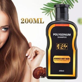 цена 200ml Natural Darkening Shampoo Reverse Gray Hair Black Hair Coloring Anti-Dandruff Hair Care Shampoo онлайн в 2017 году
